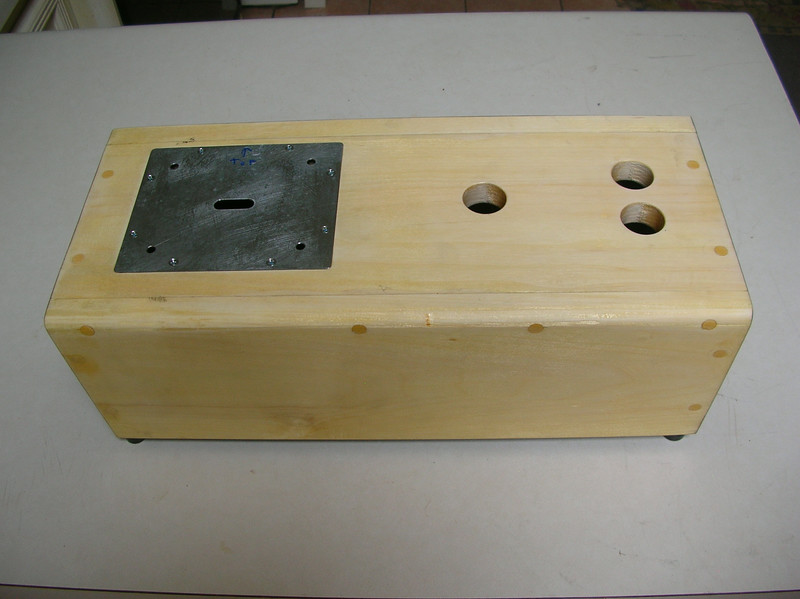 The complete box, with the CNC machined controller faceplate