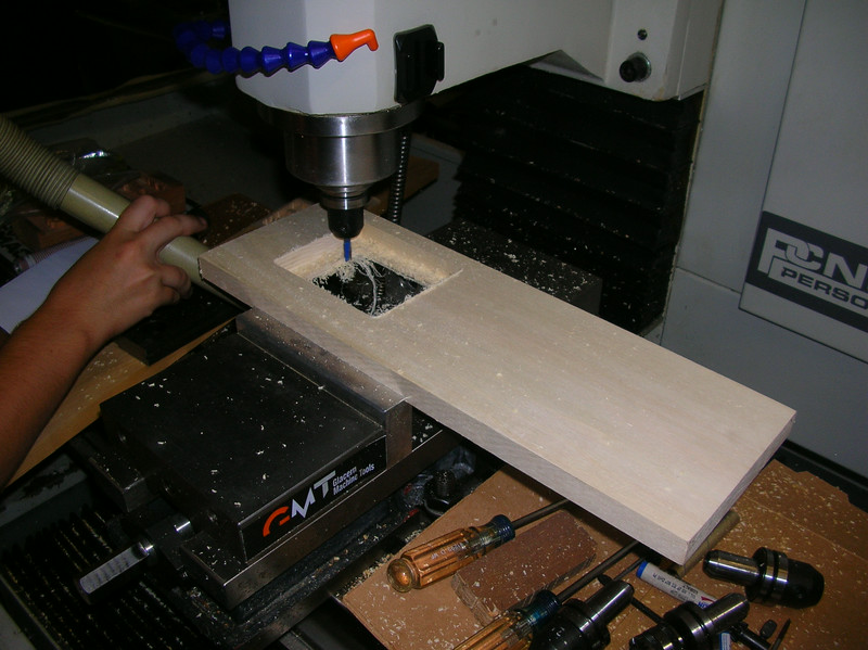 Routing the faceplate on my CNC milling machine
