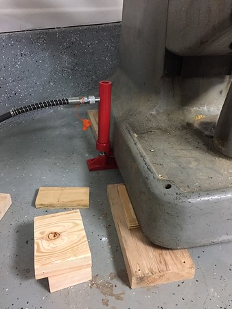 Lift and shim in small increments