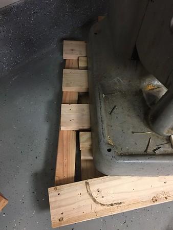 Slide in front pallet cross piece