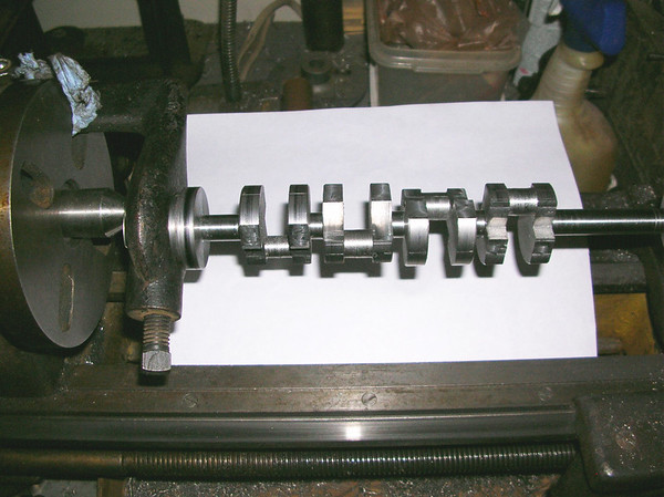 Crankshaft machining on a 1932 Southbend lathe