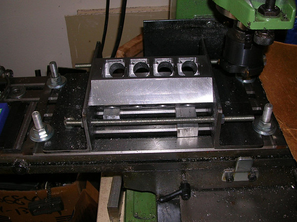 Block machining fixture on the Rong-Fu mill