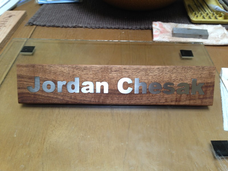 The finished name plate