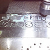Machining the Titanium Letters