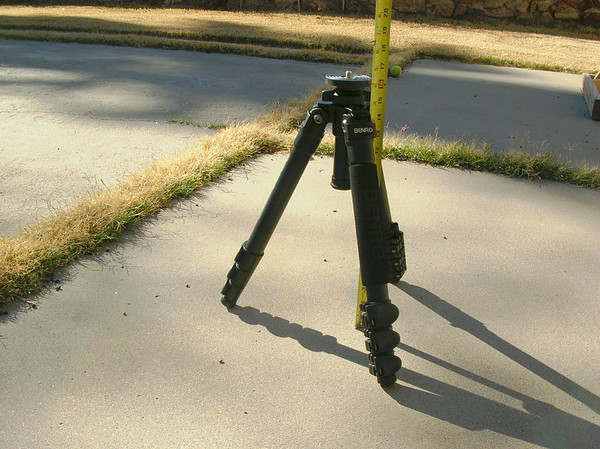 "Shortened tripod version  Short Stance - 16.2"" Tall Stance (column not extended) - 41.5"" Weight - 4.2 lbs"
