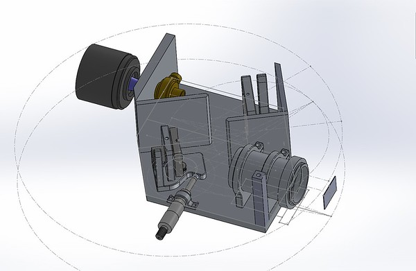 Screen shot of spectrometer design