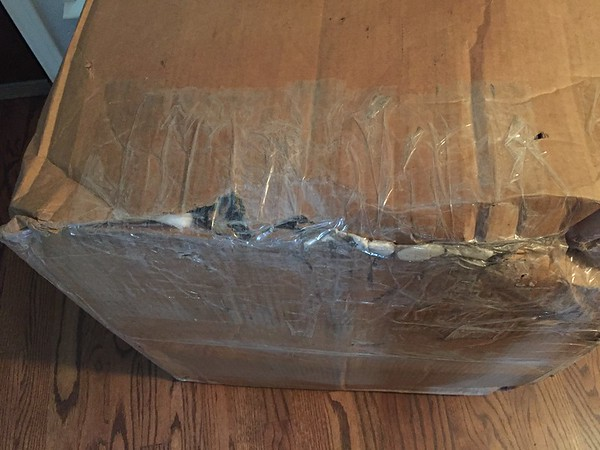 UPS repaired the damaged box