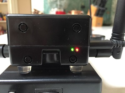 """Added a couple 1/16"""" case holes to have the ability to view status LEDs"""