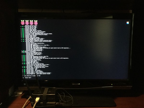 Boot screen while connected to HDMI out