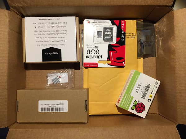 Box of goodies from Amazon