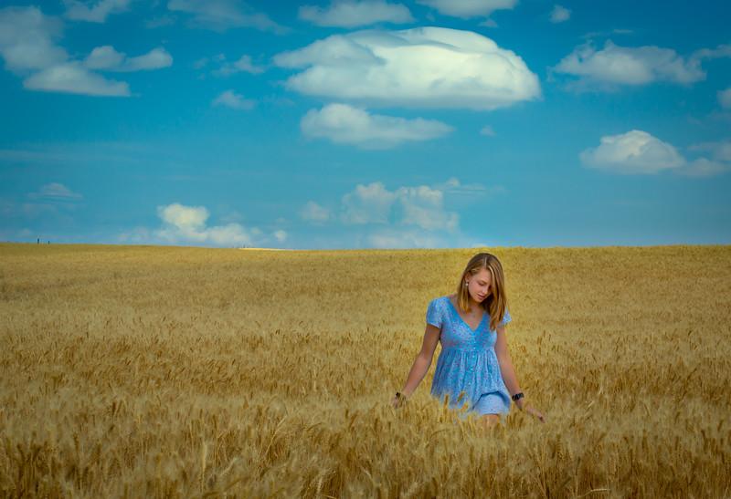 Emma in Wheat
