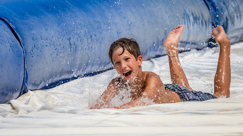 Summertime Fun on the Water Slide