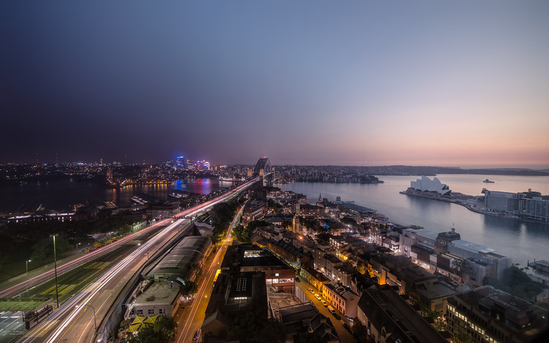 Sydney Harbor View Time Compressed