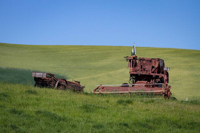 Retired Farm Equipment in The Palouse Country