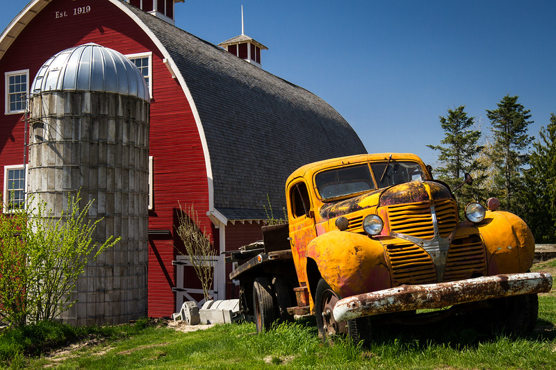 Old Truck & Restored Barn ~ Colfax, WA