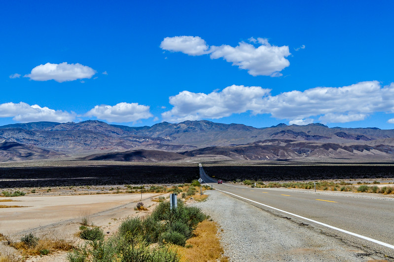 Lone Road Through the Death Valley