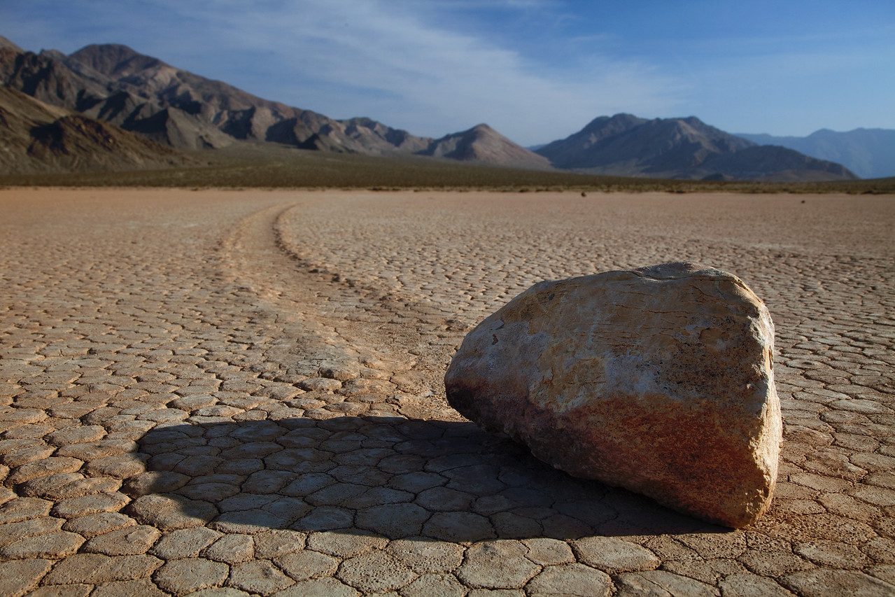 Sailing stones at The Racetrack Playa
