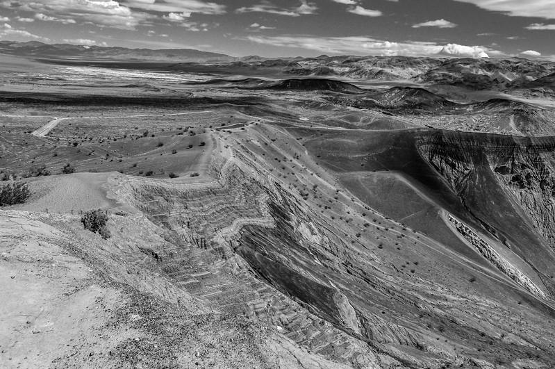 Ubehebe Crater Rim Black & White