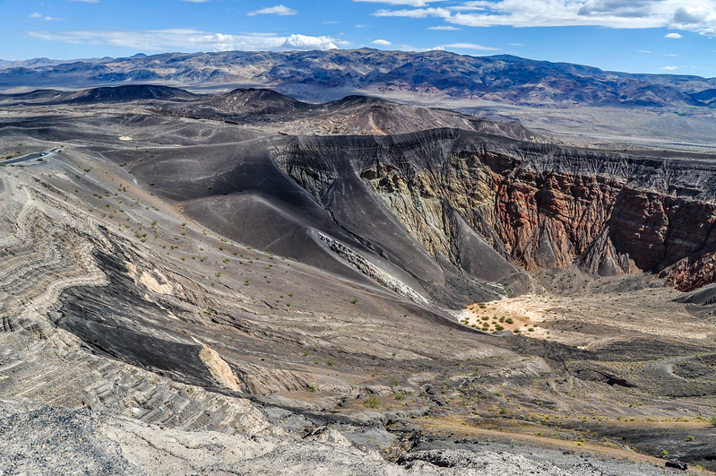 Cloud Shadows Over Ubehebe Crater