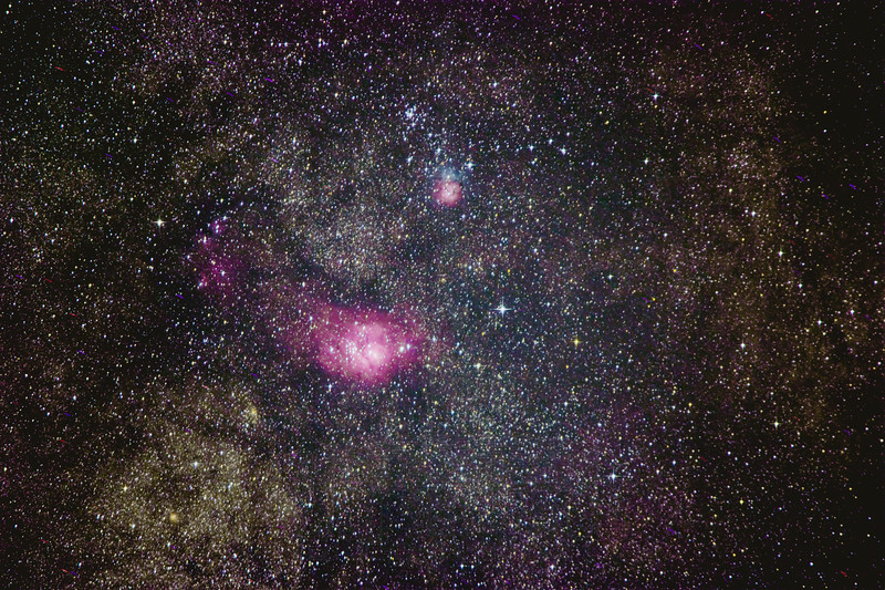 Lagoon and Trifed Nebula.