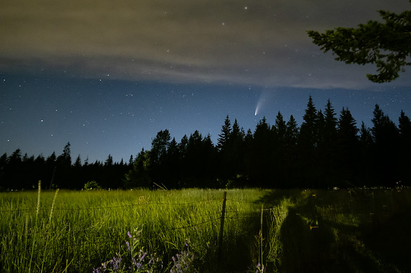 Neowise Comet Falls on Farm in North, ID