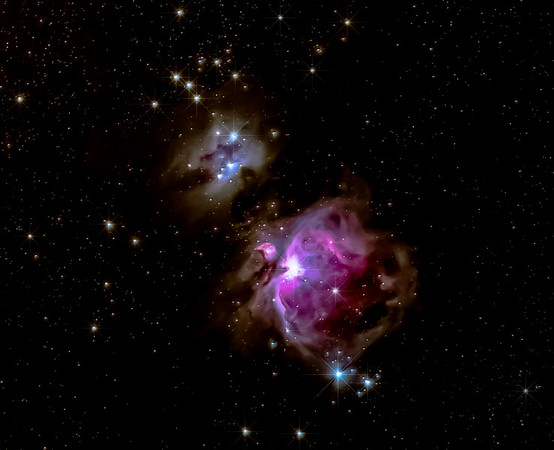 The Great Orion Nebula and Running Man Nebula