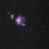 Great Orion Nebula and Running Man Nebula(LRGB processing)