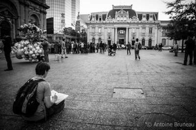 Plaza de Armas, Santiago de Chile.