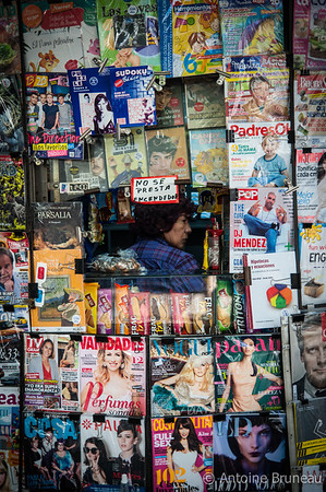 Santiago de Chile. Magazine vendor.