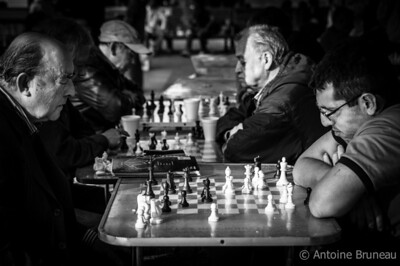 Santiago de Chile. Playing chess is a popular sport at the Plaza de Armas, the heart and soul of the capital of Chile.