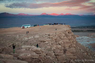 Atacama Desert, Chile. Watching sunset іn the Moon Valley is a popular tourist attraction in San Pedro de Atacama, Chile.