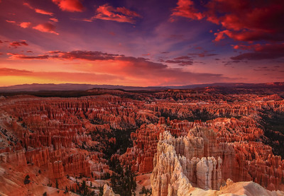 Sunset from The Rim Bryce Canyon National Park, Utah