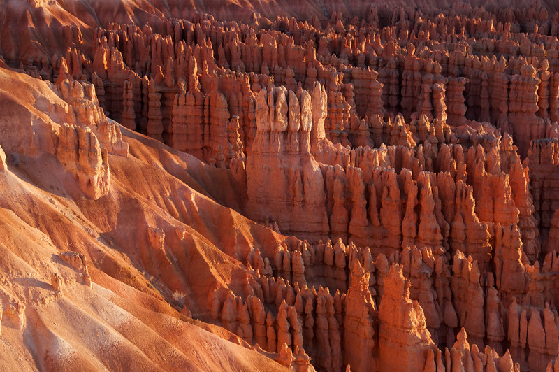 Beautiful hoodoos at sunrise