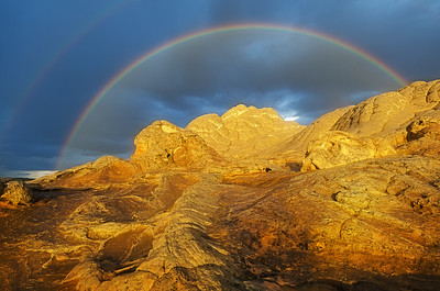 Golden Rock Double Rainbow