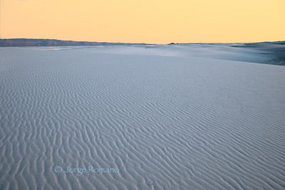 Sand Dunes after Sunset