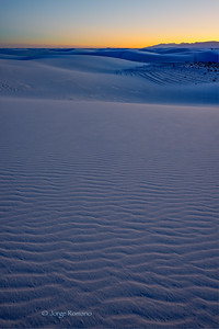 Twilight at White Sands National Monument in New Mexico