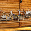 A beautiful sled collage at the Husky Homestead.<br /> Denali, AK.<br /> July 6, 2010.