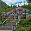 Beaver Clan House.<br /> Saxman Totem Park, Ketchikan, AK.<br /> July 15, 2010.