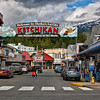 Entrance to downtown Ketchikan, AK.<br /> July 15, 2010.