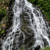Waterfall along the roadside of the Richardson Highway.<br /> Drive from Copper Center to Valdez, AK.<br /> July 10, 2010