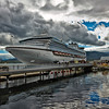 The Diamond Princess docked in Ketchikan, AK.<br /> July 15, 2010.