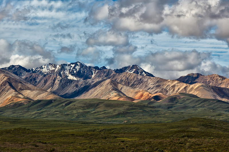 Alaska Range from Polychrome Pass.<br /> Denali National Park, AK.<br /> July 7, 2010.