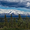 The Wrangell Moutains.  Mt. Drum in the foreground (12, 010 ft).  <br /> Wrangell - St. Elias National Park Visitor Center.<br /> Copper Center, AK.<br /> July 9, 2010.