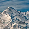 Mt. McKinley (aka, Denali) in clear view.  North America's highest peak.<br /> Denali National Park.<br /> July 7, 2010