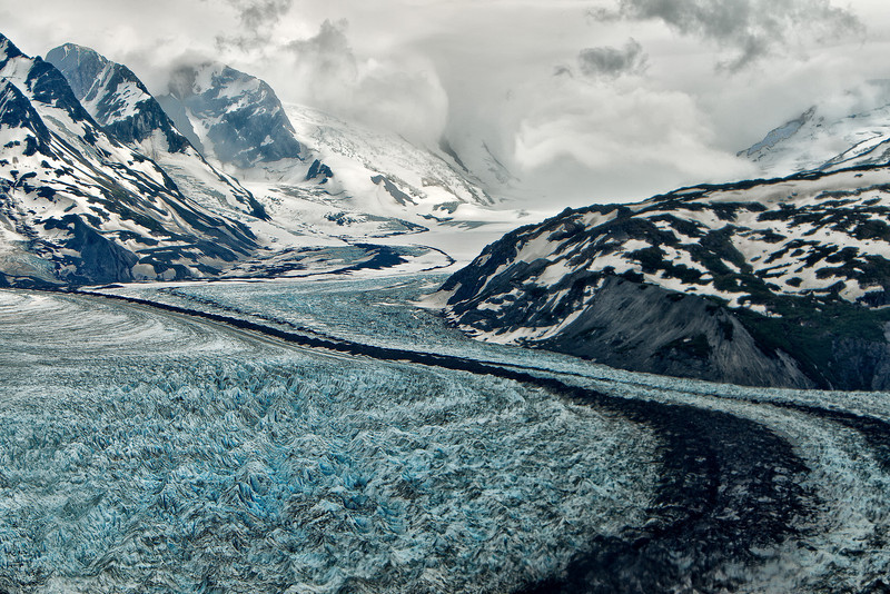 Glacier viewed from our float plane.<br /> Wasilla to Talkeetna, AK<br /> July 4, 2010