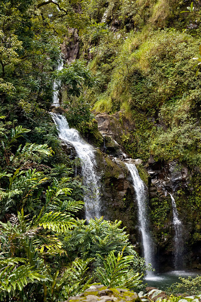 Maui:  Waterfall along the Hana Highway.