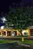 Maui:  Full moon rising over a shop in Lahaina
