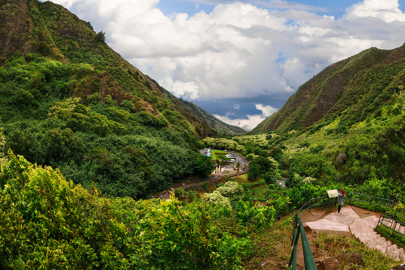 Maui:  'Iao Valley State Monument, looking through the 'Iao Valley toward Haleakala.
