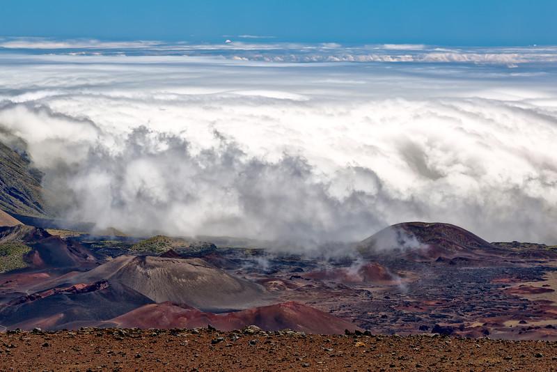 Maui:  At the top of Haleakala Volcano National Park.