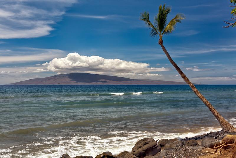 Maui:  Looking toward Lana'i Island.
